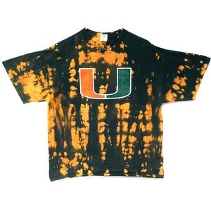 University of Miami custom dyed T-shirt